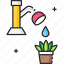 nature, plant, save, save water, watering icon