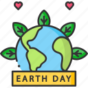 celebration, earth day, earth globe, ecology icon