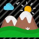 landscape, mountain, mountains, snow icon