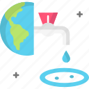 earth, ecology, planet earth, save water, water icon