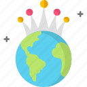 crown, earth, earth day icon