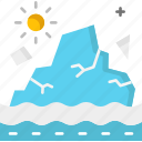 glacier, ice, iceberg, melting, north pole, polar