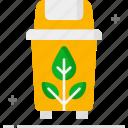 ecology, garbage, plastic bin, recycled plastic bag, recycling bin