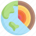 earth day, earth layer, ecology, environment, geology, mother, nature icon