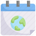 date, earth day, earth on calendar, ecology, environment, mother, nature icon