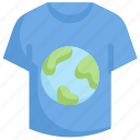 campaign, earth day, earth on t-shirt, ecology, environment, mother, nature icon