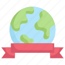 campaign, earth day, earth with ribbon, ecology, environment, mother, nature icon