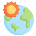 earth day, earth with sun, eclipse, ecology, environment, mother, nature icon