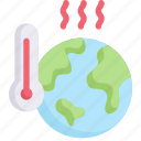 earth day, ecology, environment, global warming, mother, nature, thermometer icon