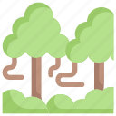 earth day, ecology, environment, mother, nature, rainforest, trees icon