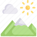 earth day, ecology, environment, landscape, mother, mountain, nature icon