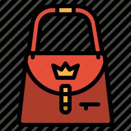 bag, fashion, hand, woman icon