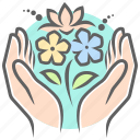 bouquet, flowers, gift, give, mother's day, present icon