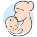 baby, baby care, care, hug, love, mother, mother's day icon