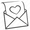 email, envelope, heart, letter, mail, message, valentine icon