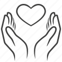 care, hands, heart, life, love, valentines icon