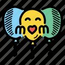 balloon, celebration, day, mothers icon