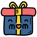 present, mothers, day, gift icon