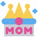 crown, kingdom, mother's day, queen icon