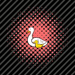 beautiful, beauty, bird, comics, cygnet, nature, swan icon
