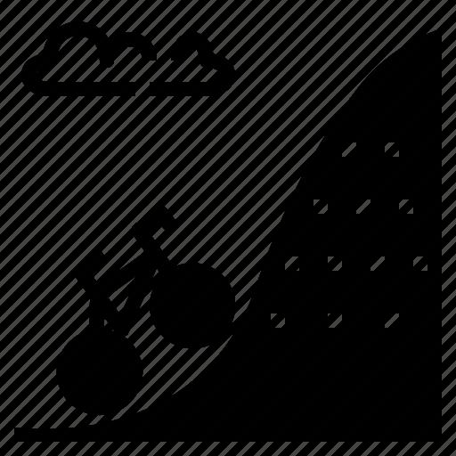 activity, dip, incline, slant, slope icon