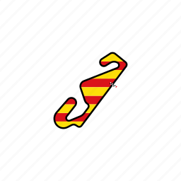catalan, catalunya, circuit, motogp, race, road icon