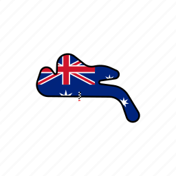 australia, circuit, motogp, philip island, race, road icon