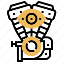 auto, automotive, engine, machine, motor icon