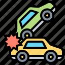 accident, asphalt, car, insurance, vehicle icon