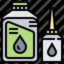 automotive, bottle, engine, maintenance, oil icon