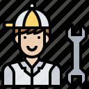 engineer, maintenance, repair, service, technician icon