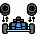 car, motor, pit, race, racing, sports, stop icon