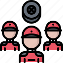 group, motor, people, race, racing, sports, team icon