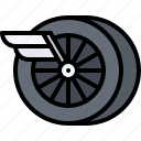 motor, race, racing, speed, sports, wheel, wing icon