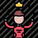 king, motor, race, racing, sports, win, winner icon