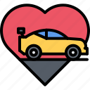 heart, love, machine, motor, race, racing, sports icon