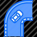 car, motor, race, racing, sports, track, turn icon