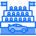 car, motor, race, racing, sports, tribune, viewers icon