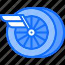 motor, race, racing, speed, sports, wheel, wing icon