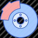 brake, car, disc, vehicle icon