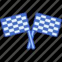crossed, flagr, flags, racing icon