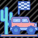 cactus, desert, race, racing icon