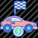 electric, energy, power, racing icon