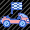 go, kart, karting, race icon