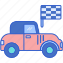 car, hot, old, rod icon