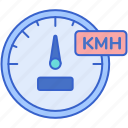 kmh, performance, speed, speedometer icon