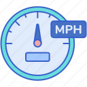 dashboard, mph, speed, speedometer icon