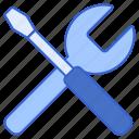 maintenance, repair, service, tool icon