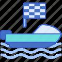 boat, motor, motorboat, ship icon