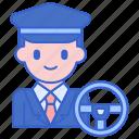 driver, male, man, professional icon